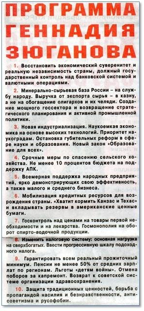 Программа КПРФ